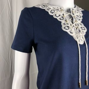 Charter Club Lace-Up T-Shirt